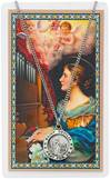 St. Cecilia Pendant and Holy Card Set