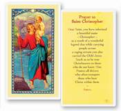 St. Christopher Laminated Prayer Card