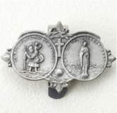 St. Christopher/Mary Double Visor Clip