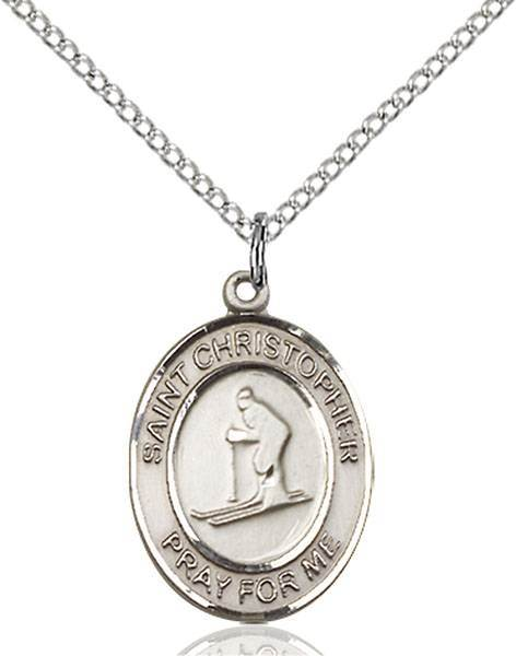 St. Christopher / Skiing Pendant