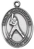 St. Christopher Sports Medal-Baseball