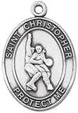 St. Christopher Sports Medal-Basketball