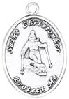 St. Christopher Sports Medals-Skiing (Women) *WHILE SUPPLIES LAST (NOT DISC)*