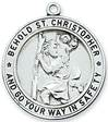 "St. Christopher Sterling Silver Medal on 24"" Chain"