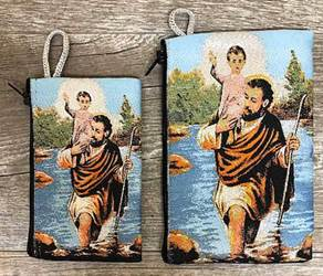St. Christopher Woven Pouch from Turkey