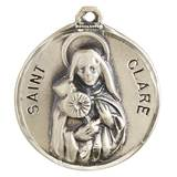 "St. Clare Pendant on 18"" Chain"
