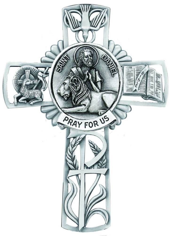 St. Daniel Pewter Wall Cross
