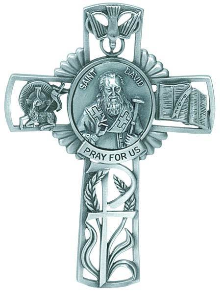 St. David Pewter Wall Cross