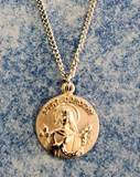 "St. Dorothy Gold over Sterling Medal on 18"" 3/4 inch medal; Gift Boxed"