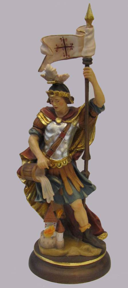 St. Florian Statue solid wood statue, hand carved statue, italian made state, maple wood statue, home decor, church decor, colored statue, st. florian statue, 5041/20