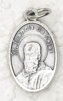 "1"" Oxidized Medal-St Francis De Sales  ?Imported from Italy."