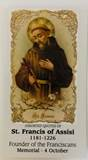 St. Francis Of Assisi Paper Prayer Card