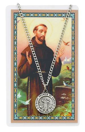 St Francis Pendant & Holy Card