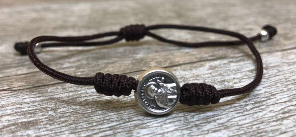 St. Francis Simple 1 Bead Blessing Bracelet - 05613