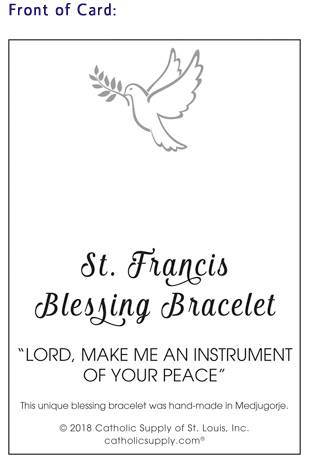 St. Francis Blessing Bracelet Lord make me an instrument of your peace