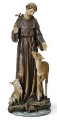 St. Francis Statue st francis statue, st francis with deer, joseph studio, resin/stone statue, home decor, church decor, 46696