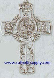 St. Francis of Assisi Pewter Cross