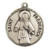 "St. Frederick Sterling Silver Medal on 20"" Chain"