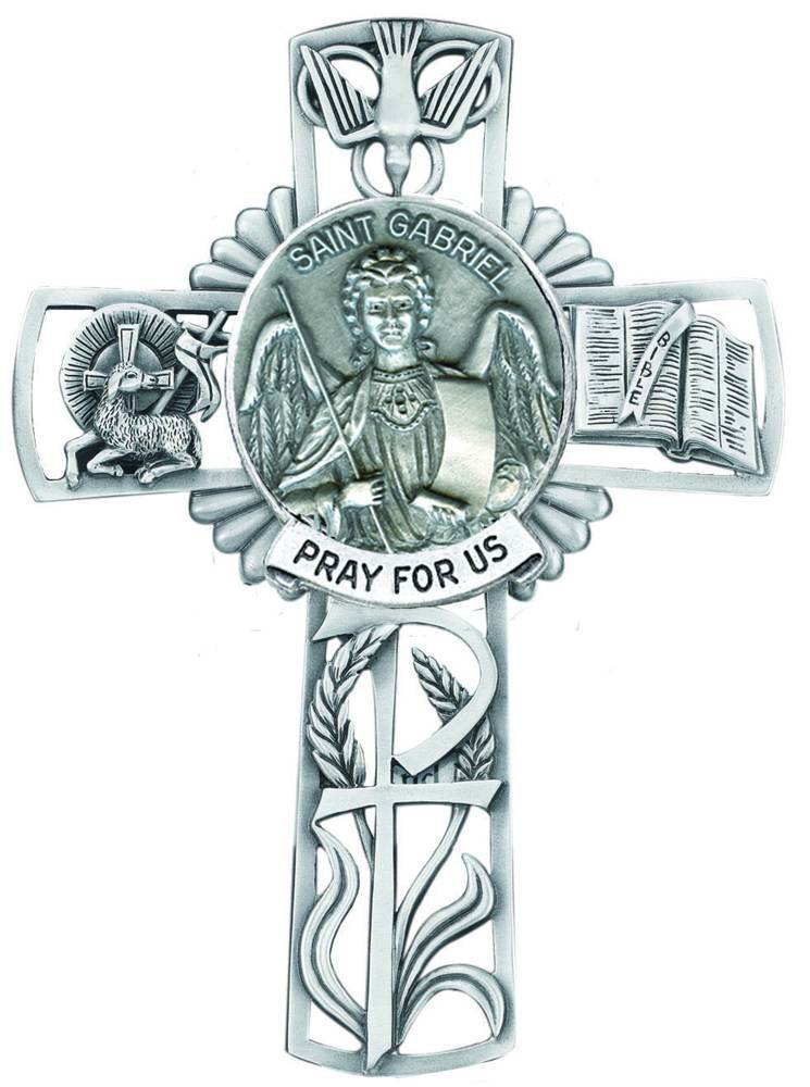 St. Gabriel Pewter Wall Cross