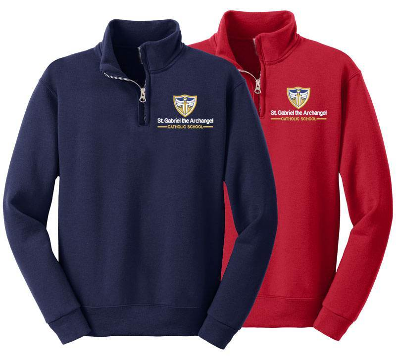 St. Gabriel Quarter-Zip Sweatshirt, Embroidered