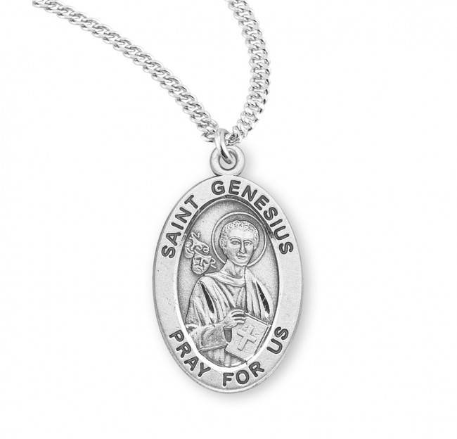 St. Genesius Patron Saint Necklace