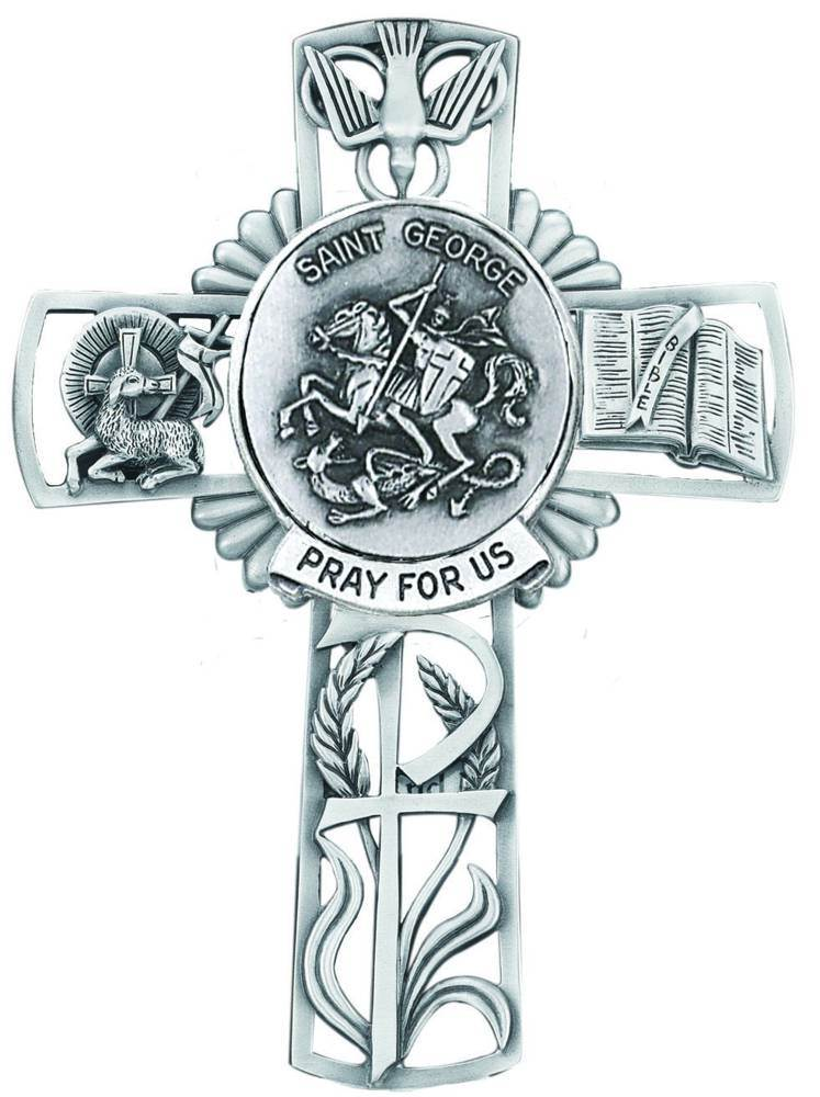 St. George Pewter Wall Cross