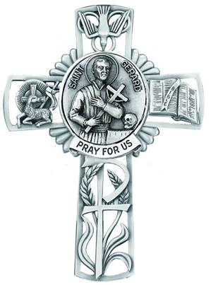 St. Gerard Pewter Wall Cross
