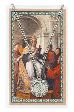 St. Gregory Pewter Medal and Prayer Card