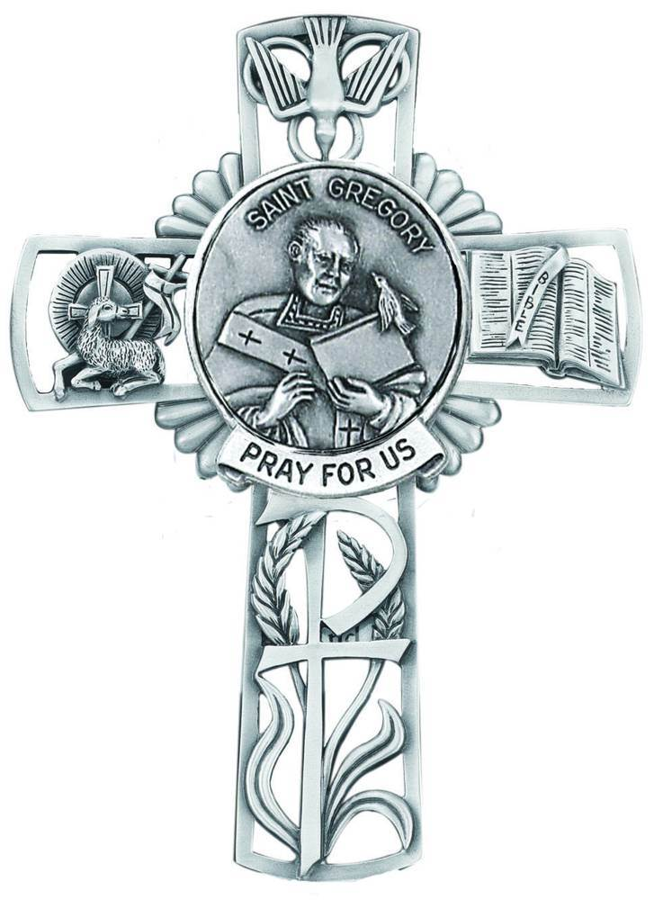 St. Gregory Pewter Wall Cross