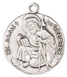 St. James Medal on Chain