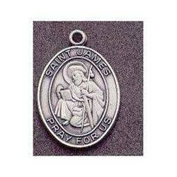 St. James Oval Medal on Chain