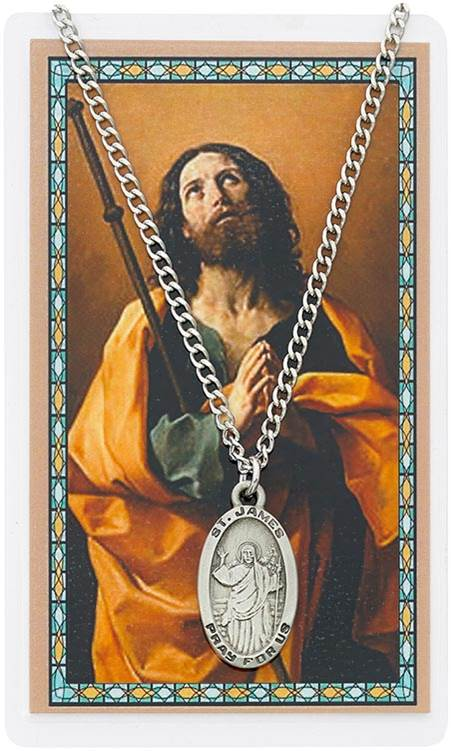St. James Pendant & Holy Card Set