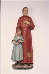 St. John Neumann with Child 3/4 Relief