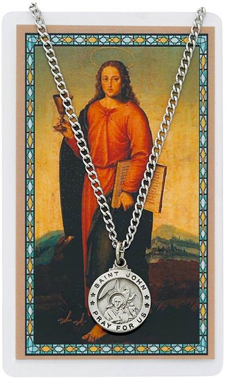 St. John Pendant and Holy Card Set