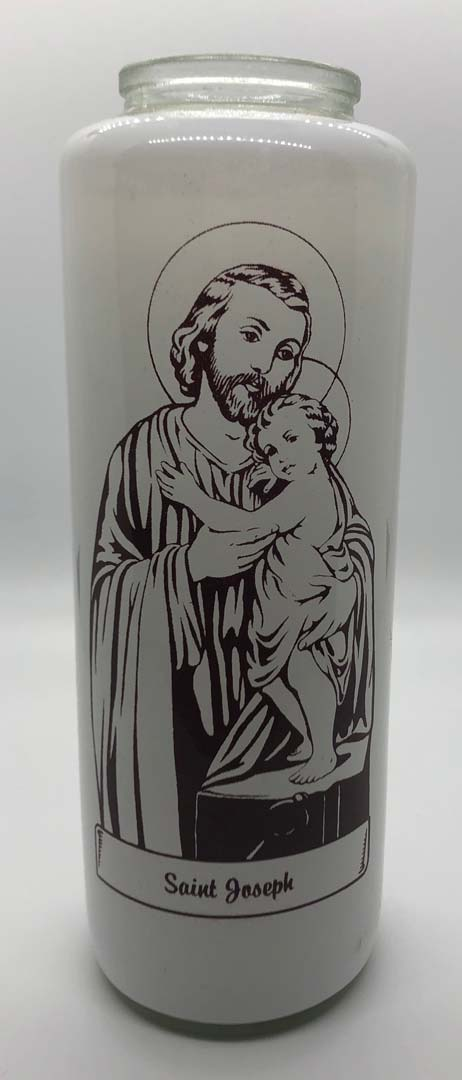St. Joseph 6 Day Bottlelight Glass Candle