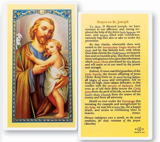 St. Joseph Holy Card