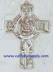 St. Joseph Pewter Wall Cross