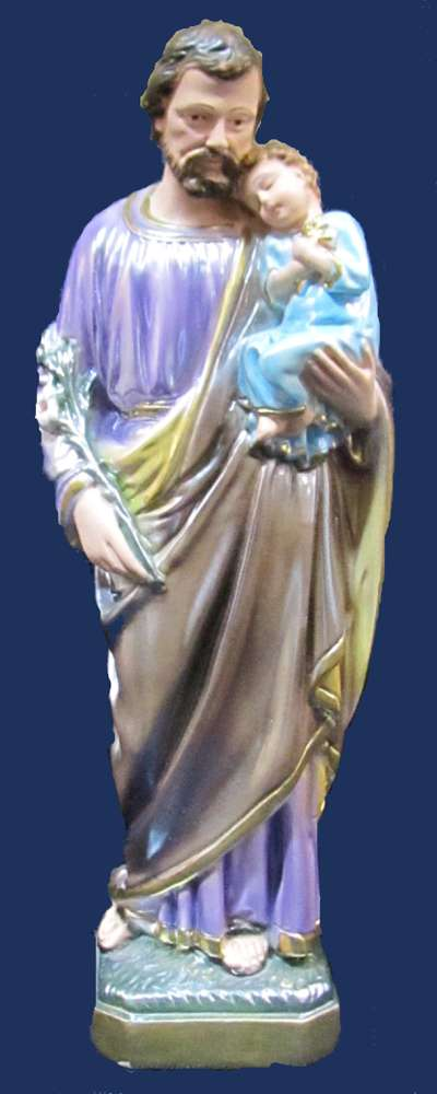 St. Joseph Statue plaster statue, italian plaster, made in italy, hand painted statue, home decor, church decor, st. joseph statue, SG/PG30