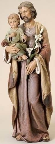 St. Joseph Statue st. joseph statue, joseph studio collection, patron saint, home decor, male statue, large statue, church decor, 46692