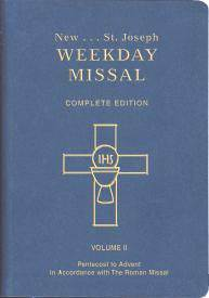 ST. JOSEPH WEEKDAY MISSAL (Vol. II/Pentecost to Advent)