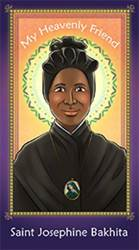 St. Josephine Bakhita Holy Card for Children