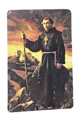 St. Junipero Serra Laminated Prayer Card 3in X 2in
