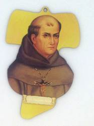 St. Junipero Serra Wall Cross 6in X 4in