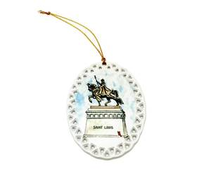 St. Louis Holiday Ornament, Oval