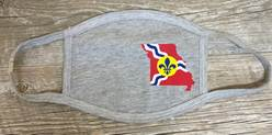St. Louis Missouri State Flag 3-Ply Reusable Face Mask, Grey