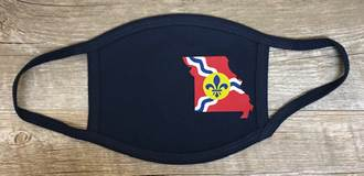 St. Louis Missouri State Flag 3-Ply Reusable Face Mask, Navy
