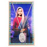 St. Lucy Pewter Medal and Holy Card Set