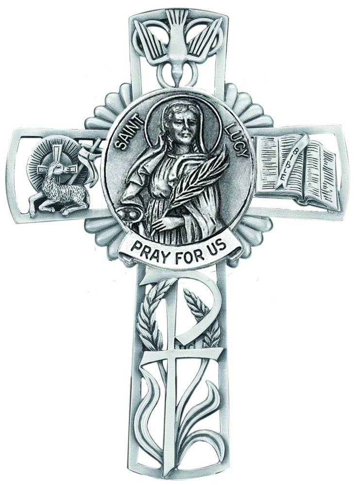 St. Lucy Pewter Wall Cross