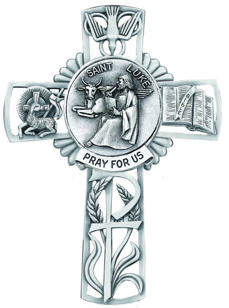 St. Luke Pewter Wall Cross