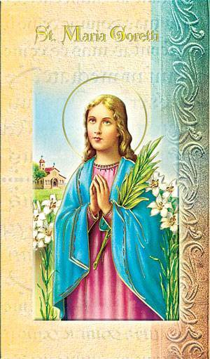 St. Maria Goretti Biography Card